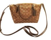 Coach Signature Mini Kelsey Satchel Crossbody Bag, Khaki, Brown