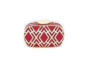 Colourful Metal Fretwork Cut Overlay Two Tone Clutch Bag