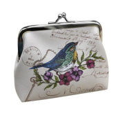 UPLOTER Women Elegant Retro Birds Little Wallet Purse Clutch Handbag