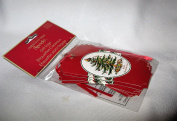 Spode Christmas Tree Gift Tags Package of 12 - Red