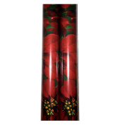 Christmas Wrapping Poinsettia Design Holiday Paper Gift Greetings 2 Rolls Festive Elegant Wide Wrap