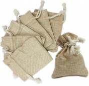 Ovee Lando Natural Colour Burlap Bag with Drawstring Closure for Arts & Crafts Projects, Gift Packaging, Presents, Snacks & Jewellery