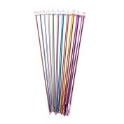 11 Pcs Multicolor Aluminium Crochet Hooks Knitting Needles Craft Yarn,2mm-8mm By UBOOMS