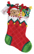 Peek-A-Boo Teddy Bucilla Christmas 46cm Stocking Kit