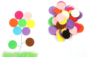 Shapenty 25mm/1 Inch Mixed Coloured Decorative Small Round Felt Circles Pads Assortment for DIY Craft and Sewing Handcraft, 100PCS