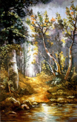 "Needlepoint Kit ""Forest"" 9.8""x15.7"" (25x40cm) printed canvas 075"