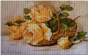 "Needlepoint Kit ""Yellow roses"" 15.7""x9.8"" (40x25cm) printed canvas 644"
