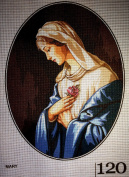 "Needlepoint Kit ""Madonna"" 11.8""x15.7"" 30x40 cm. printed canvas 120"