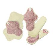 6 cloth pads set / Reusable Cotton Cloth Menstrual Pads / Cloth pads starter set / Cloth sanitary pad - 3 Light day pads & 3 Medium flow pads