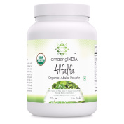 Amazing India USDA Certified Organic Alfalfa Powder 482 Grammes (500ml) * Rich Source of Fibre , Protein & Several Micro nutrients promotes body's detoxification*
