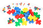 Puzzle Blocks with Pattern Cards - Educational Toy or Learning Game for Children - Busy Bag