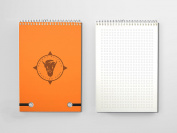 Orange Buffalo Ideation Pad