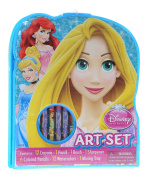 Disney Princess 34pc Art Set with Crayons, Coloured Pencils, Paints More