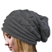 Women Knit Hat,Canserin Women's Winter Warm Crochet Hat Wool Knit Beanie Caps