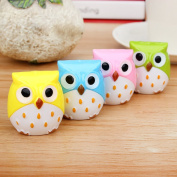 Delight eShop 1PC Lovely Owl Animal Sharpener Pencil Stationery for School Student Kid Gift