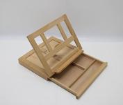 Fixture Displays Artists Adjustable Desk Box Easel- Natural 16102