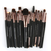 SMTSMT 2017 20PCS Cosmetic Makeup Brush Lip Makeup Brush Eyeshadow Brush Gold