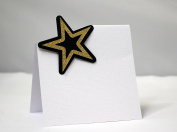 All About Details Black, Silver & Gold Star Place Cards; Food Escort Cards, 12pcs