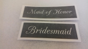 10 x Maid of Honour & Bridesmaid word stencils for etching on glass (mixed)present hobby gift wedding favour