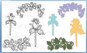 Heartfelt Creations Bundle Dies+Stamps Blushing Rose Stem, HCD1-7113+HCPC3755