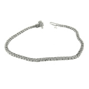 2.50 Ct White Gold Diamond Women's Tennis Bracelet 14 Kt