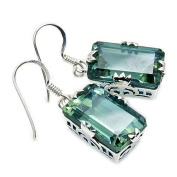 Sterling Silver Lab Created Colour Change Alexandrite Dangle Earrings