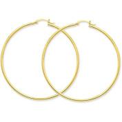 MCS Jewellery 14 Karat Yellow Gold Large Classic Hoop Earrings (Diameter