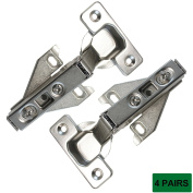 Probrico CHHS09 Clip Off Face Frame Mounting Furniture Hinges Full Overlay,4 Pair
