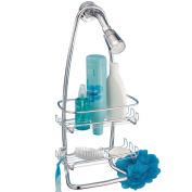 mDesign Contemporary Bathroom Shower Caddy for Shampoo, Conditioner, Soap - Chrome