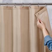 180cm x 180cm Mildew-Resistant, Ultimate Shield Fabric Shower Curtain Liner, Tan