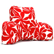 Majestic Home Goods Plantation Reading Pillow, Red