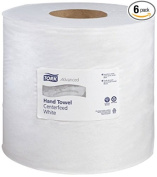 Tork 121211 Advanced 2-Ply Water-Tight Centerfeed Wide Hand Towels, White