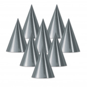 Beistle Silver Foil Cone Hat, 40cm