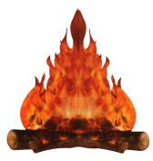 3-D large decorative cardboard campfire centrepiece 36cm tall