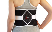 Black Friday Sale Special! Zuliex Diamond Strength Back Brace | Adjustable Back Support Belt | Exclusive Heat & Ice Pack Pocket | Lower Back Relief | Men & Women | One Size Fits Most