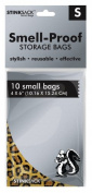 10pc Stink Sack - Small - Leopard Print - Smell Proof Storage Bags - 10cm x 15cm
