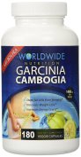 80% HCA Garcinia Cambogia Weight Loss Supplement * 1400mg Per Serving * 180 Capsules - 30 Day  .   By - Worldwide Nutrition