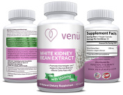 Venü Beauty Pure White Kidney Bean Extract – 600mg Dietary Supplement – 60 Capsules for Natural Weight Loss, Carb Intercept, Anti-Ageing & Glucose Support