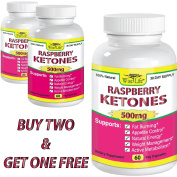 2+1 FREE Raspberry Ketones Pure & Fresh 500mg Ketone Plus - 60 Vegetarian Caps, Fast Metabolism Diet Pills - Best Max Burn & Lose Fat Quickly Healthy Dieting Pills Proven for Rapid Weight Loss That Works Naturally Fast - Safely Simply Slim At Home with ..