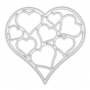 VANKER Carbon Steel Love Heart Cutting Dies Stencil Template Scrapbooking Card Album DIY Décor