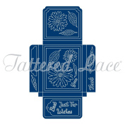 Tattered Lace Metal Die Set Gift Box Maker Best Wishes Thank You ETL485