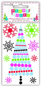 """Dovecraft """"Merry Magic' Modern Christmas Craft Collection - Tree Adhesive Gems"""