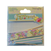 Forget Me Not Adhesive Garland Flags and Sticks Vintage Craft Embellishment