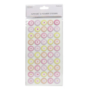 Premium Simply Creative Alphabet Number Chipboard Stickers - Rings