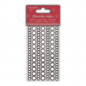 Dovecraft Christmas Basics - Paper Card Craft - Gems - Clear