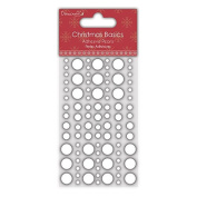 Dovecraft Christmas Basics - Paper Card Craft - Pearls - White