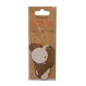 Dovecraft Krafty Christmas Craft Collection - White & Brown Chipboard Tags