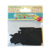 Forget Me Not 8 x Small Mini Chalk board Blackboard Wooden Craft Shapes