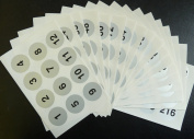 Minilabel Silver 40Mm Round Consecutive, Sequential Number Sequence Labels, Numbering Stickers, From 1216