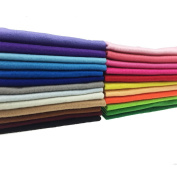 24pcs Thick 1.4mm Soft Felt Fabric Sheet Assorted Colour Felt Pack DIY Craft Sewing Squares Nonwoven Patchwork